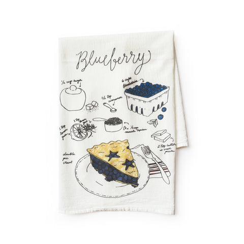 Blueberry Pie Tea Towel