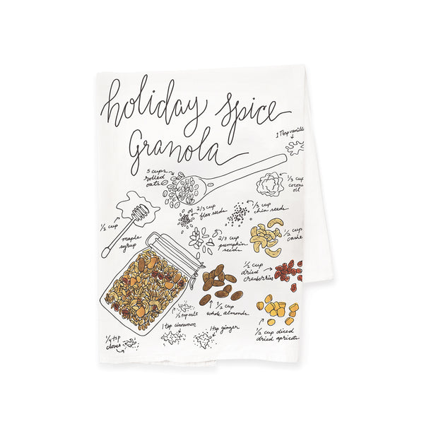 Holiday Spice Granola Tea Towel