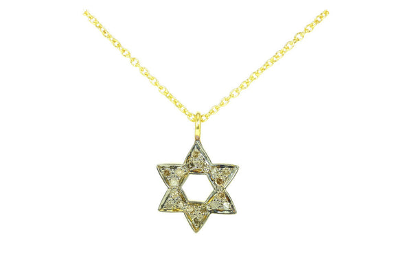 Diamond Star Chai Talisman Necklace