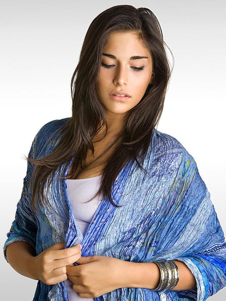 Baby Blues Multi Vintage Sari Wrap