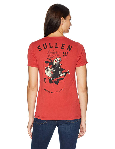 Sullen Love Machine Womens V-Neck Tee - Musink