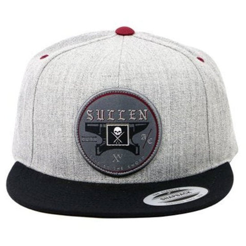 Sullen Anvil Grey Snapback Cap