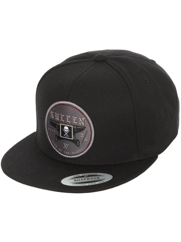 Sullen Anvil Black Snapback Cap