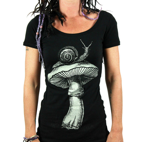 Annex Women's Shroom Scoop Neck T -shirt - Musink
