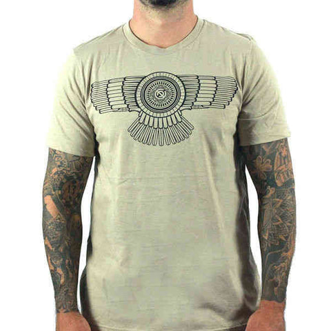 Curbside Men's Creative Spirit Black On Heather Tan T -shirt