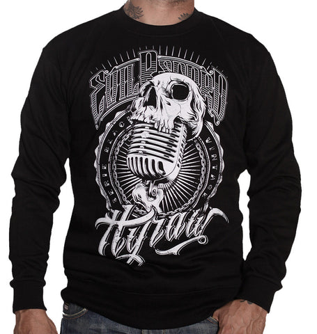 Hyraw Evil Record Men's Black Sweater - Musink