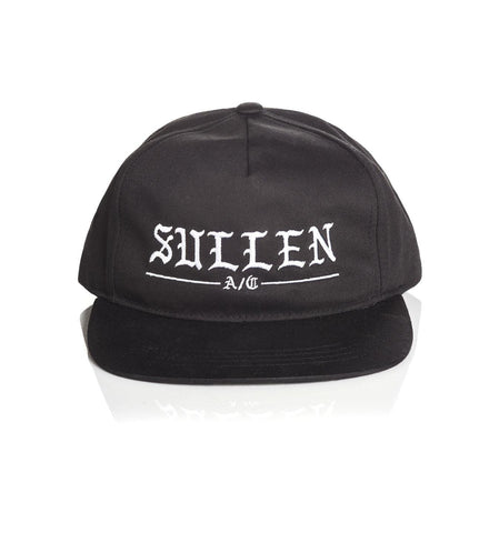 Sullen Rough Black Snapback Cap