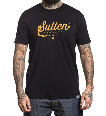 Sullen Men's Tattoo Company Black Premium Fit T-shirt