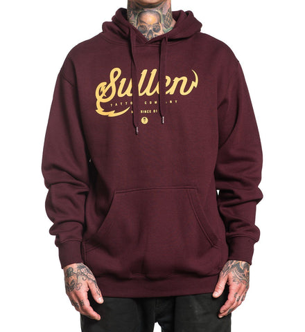 Sullen Tattoo Company Pullover Hoodie – BURGUNDY - Musink