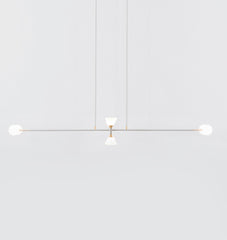 Chandelier - 8 Lights (Matte Ivory/Brushed brass)