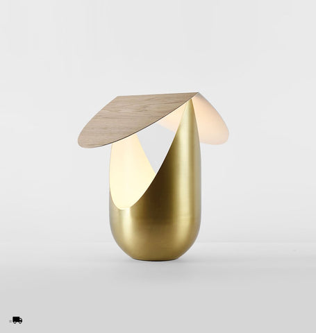 Table Lamp (White oak/Brushed brass)