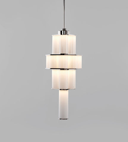 Chandelier - 02 (Polished Nickel/White)