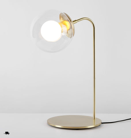 Desk Lamp (Brushed brass/Clear)