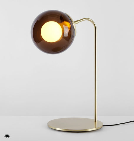 Desk Lamp (Brushed brass/Smoke)