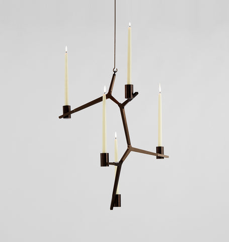 Hanging - 5 Candles (Bronze)