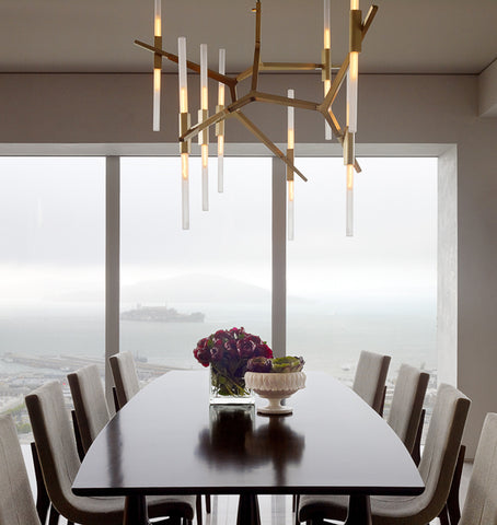 Custom Configuration (Brushed brass/Straight-cut glass) — Private residence, San Francisco