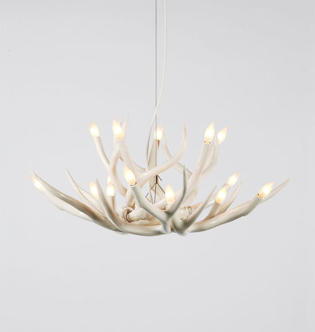 Chandelier - 10 Antlers (White)
