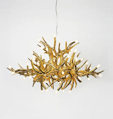 Chandelier - 24 Antlers (Gold)