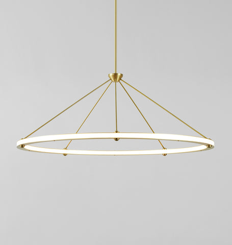 Circle Pendant (Brushed brass)