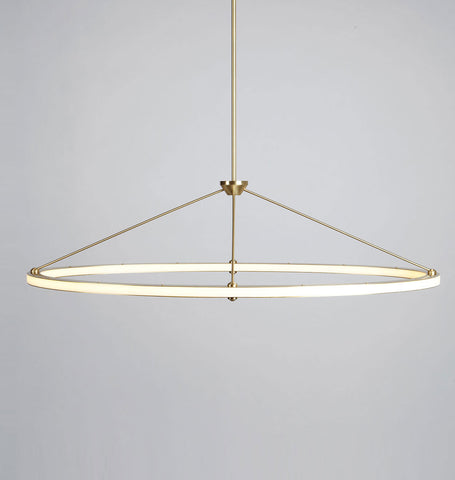 Oval Pendant (Brushed brass)