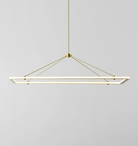 Rectangle Pendant (Brushed brass)
