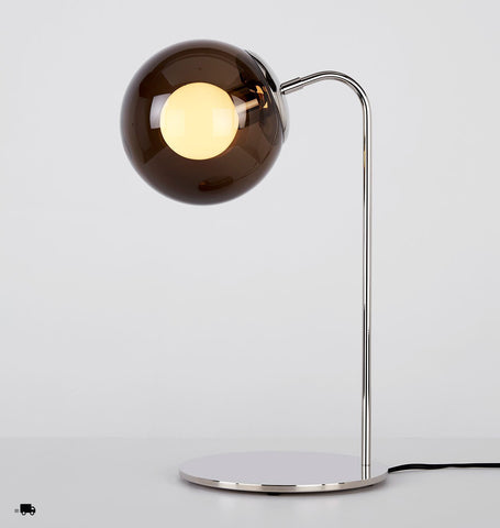 Desk Lamp (Polished nickel/Smoke)