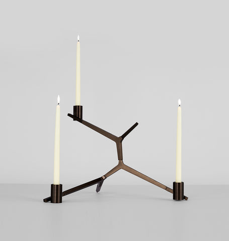 Table - 3 Candles (Bronze)