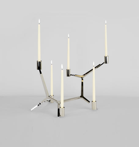 Table - 6 Candles (Polished nickel)