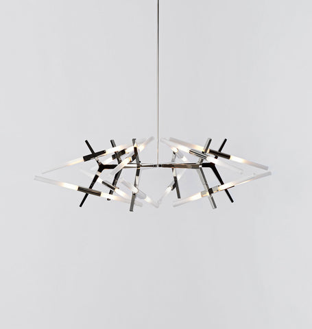03 - 24 Lights (Polished nickel/Straight-cut glass)