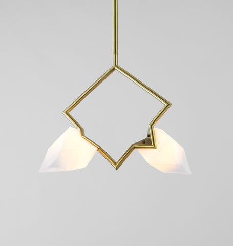 Double Pendant (Brushed brass)