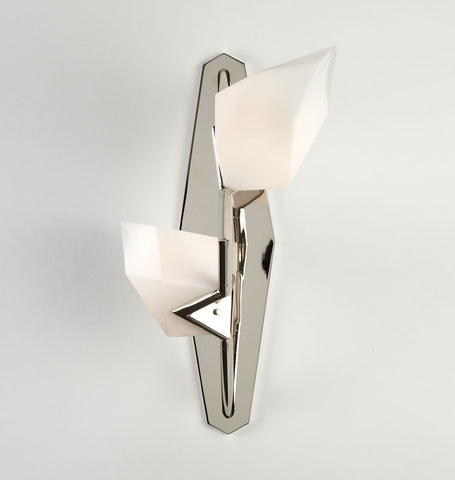 Sconce (Polished nickel/White glass)
