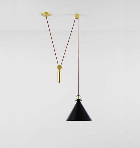 Pendant - Cone (Blackened steel)