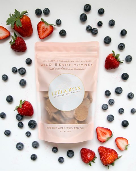 Vegan Blueberry and Strawberry Dog Treats