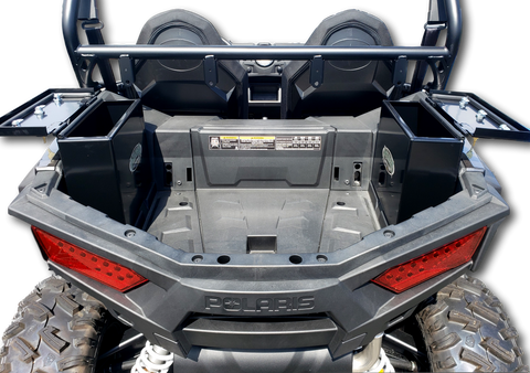 Polaris RZR 900 / 1000 S Rear side lockable storage boxes aluminum