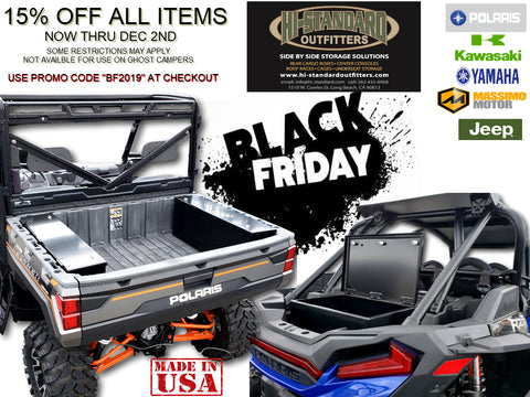 BLACK FRIDAY PROMO HI-STANDARD OUTFITTERS UTV STORAGE