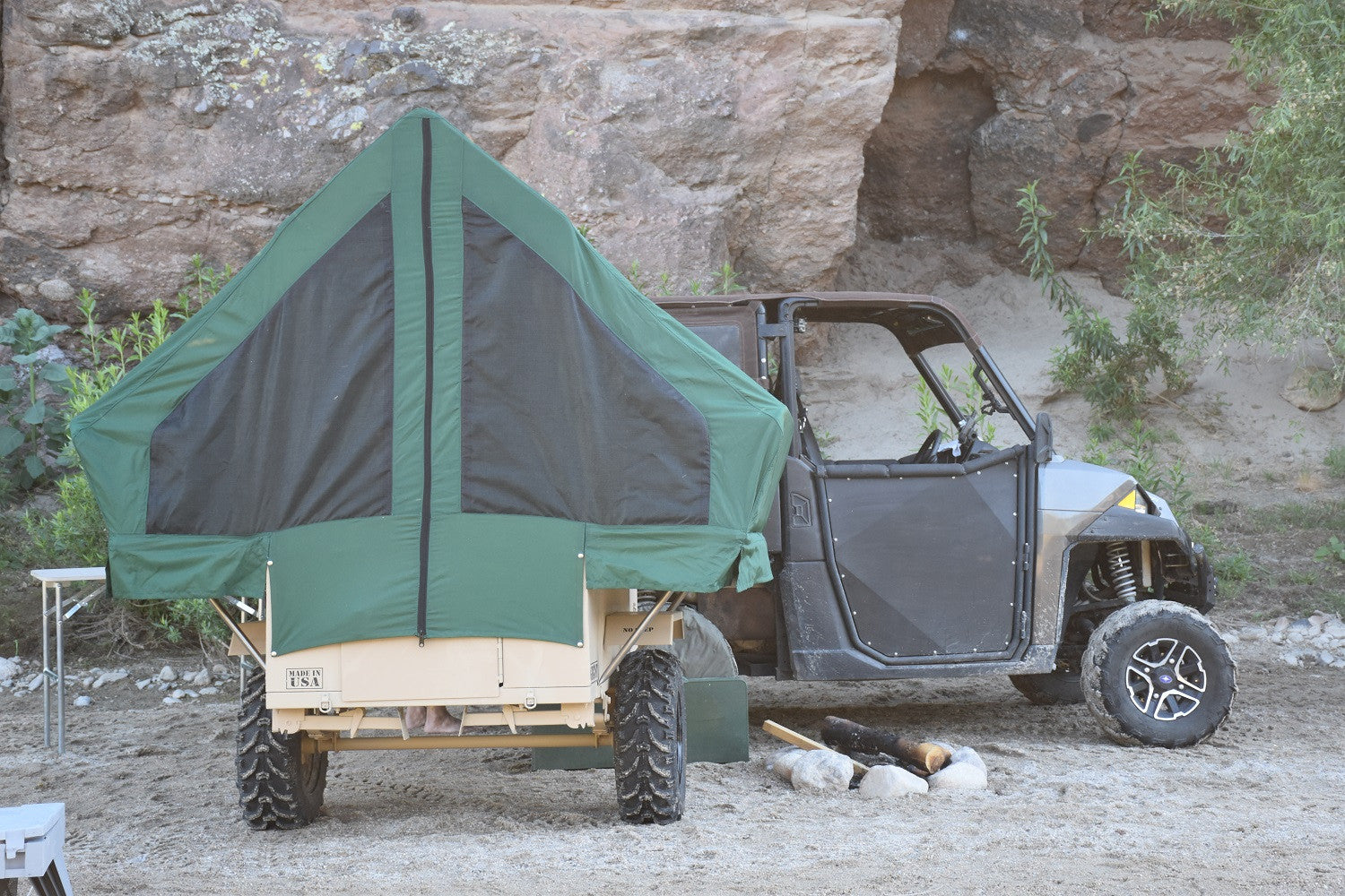 Custom Built UTV/ATV Towable Off-RoadPop Up Tent Camper