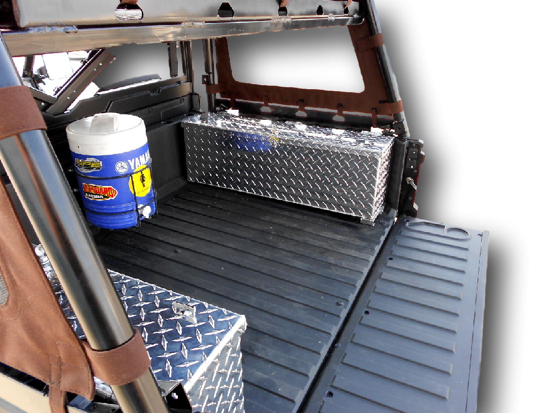 Custom Made Aluminum Rear Cargo Storage Box Lockable Weatherproof Secure for Polaris Ranger