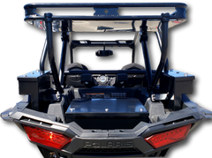 Polaris RZR 1000 Rear Cargo Storage rack and security boxes. Lockable weatherproof and secure