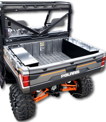 New Style Polaris Ranger 2019 rear cargo aluminum bed sotrage boxes lockable weatherproof