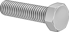 Stainless Steel Hex Head Cap Screw (Pack of 5)