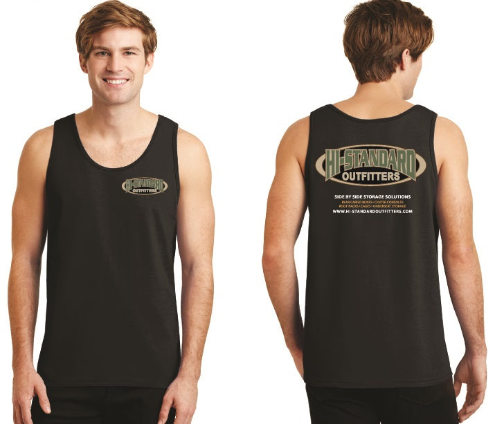 Hi-Standard Outfitters Mens Tank Top Black Rugged Tough Outdoors Off-Road ATV UTV