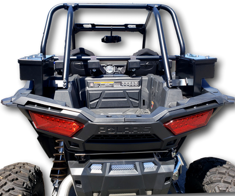 Polaris RZR 1000 side cargo storage security box, lockable, weatherproof, secure, aluminum heavy duty metal