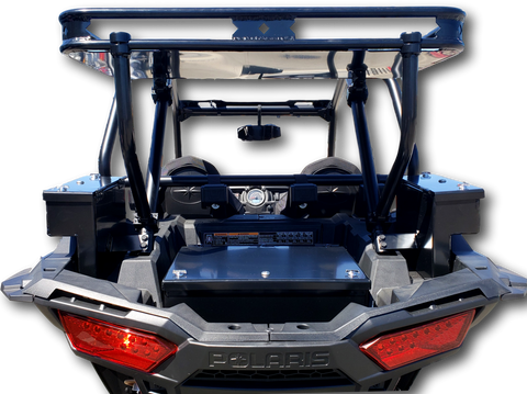 Polaris RZR 1000 UTV Rear Cargo Storage Rack and Cargo Boxes Bundle Package