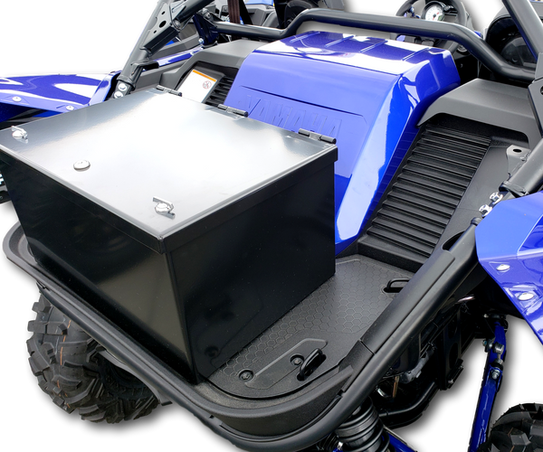 Yamaha YXZ 1000 rear cargo box, heavy duty aluminum, weatherproof, lockable, secure, dustproof