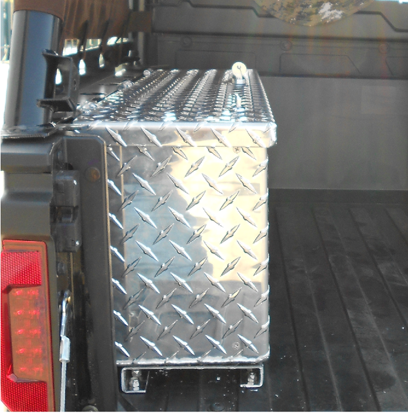 UTV ATV yamaha rhino heavy duty security storage box console diamond plate metal construction hi-standard