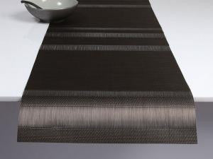 Tuxedo Stripe Table Runner - Chilewich - Miami Home Decor - Sable