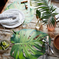 Paper Placemats Mostera Leaf - 12 Sheets