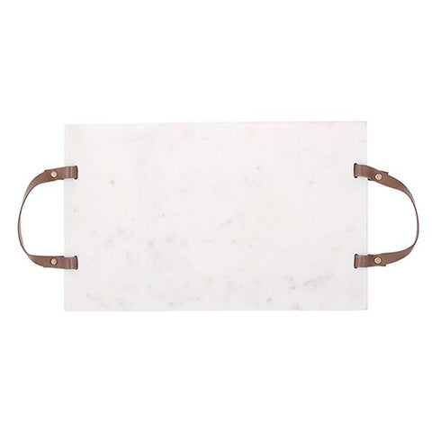 Marble Board with Leather Handles