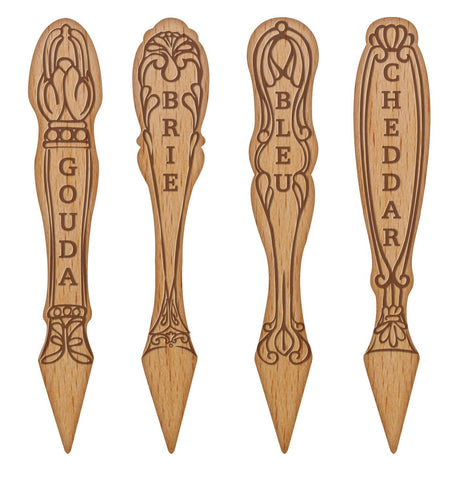 Talisman Designs - Vintage Wood Cheese Markers- Pomegranate Home ...