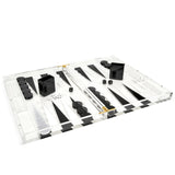 Acrylic  Backgammon Set Black/White